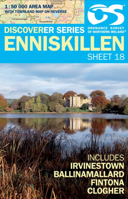 Ordnance Survey Northern Ireland 1:50,000 - Map 18 - Enniskillen (Irvinestown,Ballinamallard)